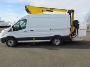 3.5t Ford Transit Van fitted with 12.5m Versalift ET36LF Boom Lift