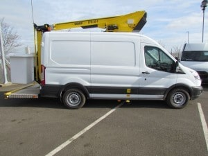 3.5t Transit Van fitted with 12.5m Versalift ET36LF Boom Lift