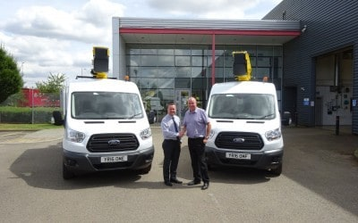 New 3.5 ton Ford Transit Vans c/w Versalift ETM36-F 13m Access Platforms